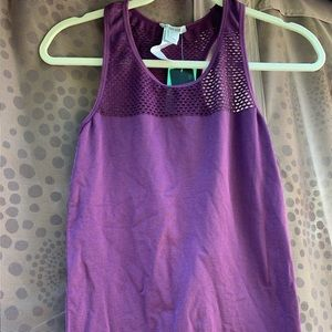 Forever 21 purple racer back mesh top size Large